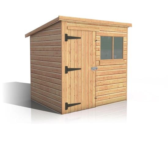 Malvern pent garden shed size from 6 39 x4 39 for Garden shed sizes