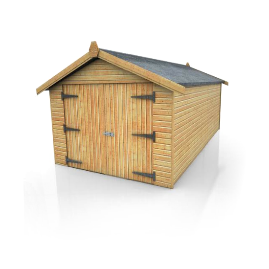 Brampton mini garage 6ft eaves from 12 39 x8 39 dsbuildings for Small wooden structures
