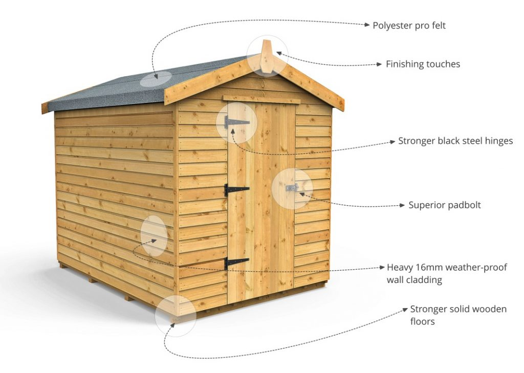 windowless version for a more secure garden shed - Garden Sheds Oldham