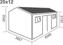 20ft x 12ft (6096x3657) £ 2912.98