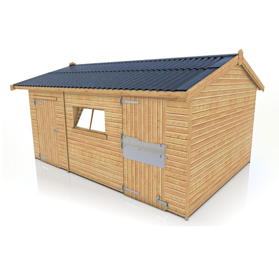 Garden Sheds Jarrow jarrow single timber stable/tackroom 16ft x 12ft - dsbuildings